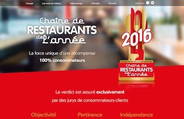 Chaine de restaurants de l'année site web par madecaandco